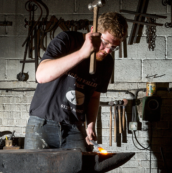Artisan Blacksmiths at Darenth Valley Forge, Kent