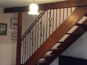 Interior stair balustrade for a property in Eynsford village Designed and made by Rhys Harlin A.W.C.B