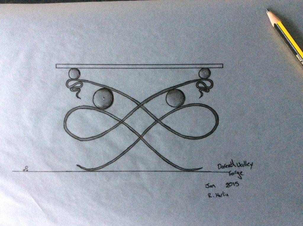 bespoke designs from a designer blacksmith- bespoke table example