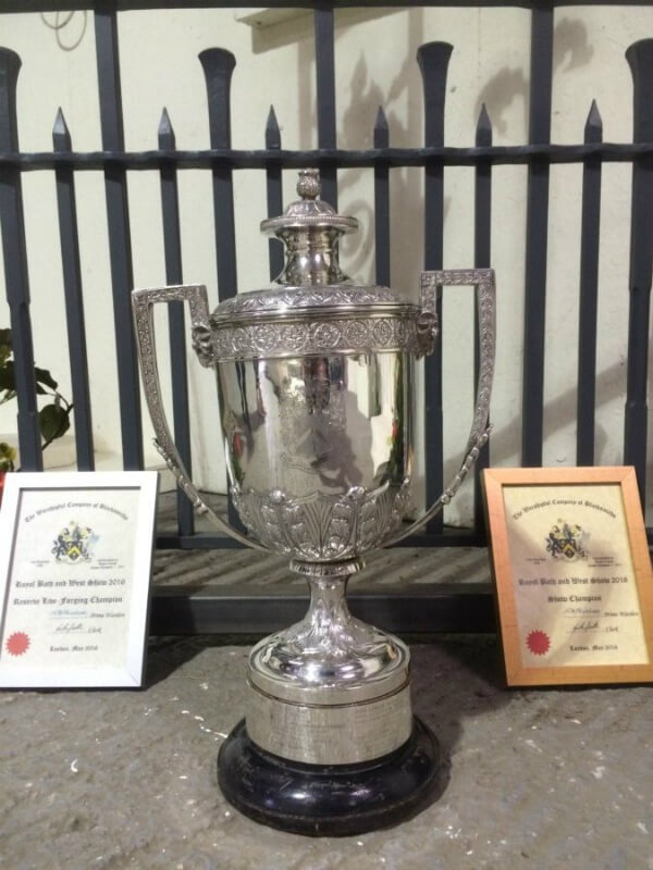 Award Winning Surrey Blacksmiths - Our Latest Cup